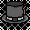 Hat Cylinder Black Icon