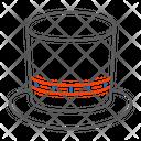 Cylinder Hat Clothing Icon
