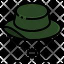 Hat Hiking Trekking Icon