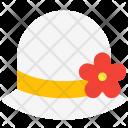 Hat Flower Women Icon