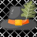 Hat Thanksgiving Pilgrim Icon
