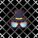 Hat Cap Glasses Icon
