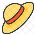Sunhat Strawhat Headwear Icon
