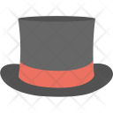 Black Top Hat Icon