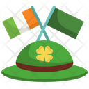 Hat And Flag Icon