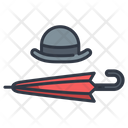Hat And Umbrella Icon