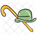 Hat With Cane Icon