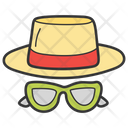 Hat With Glasses Icon