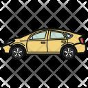 Hatchback Car Color Icon