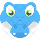 Baby Face Alligator Icon