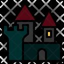 Castle Haunted Horror Halloween Mansion Icon