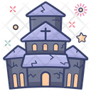Haunted House Cartoon House Ghost House Icon