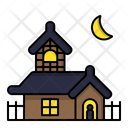 Haunted House Halloween Ghost House Icon
