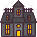 Buildings Castle Haunted House Icon