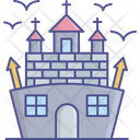 Abandoned House Spooky House Scary Mansion Icon