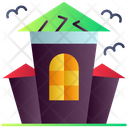 Haunted House Horror House Hut Icon
