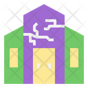 Haunted House Halloween Ghost Icon