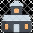 Haunted House Halloween House Icon