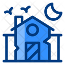 Haunted House Building Spooky Icon
