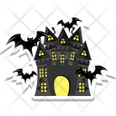 Haunted House Halloween Mansion Halloween Horror Castle Icon