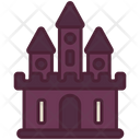 Ghost Castle Halloween Icon