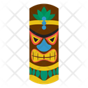 Hawaiian Mask Tribal Mask Cultural Mask Icon