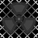 Radioactive Hazard Pollution Icon