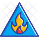 Hazard Sign Fire Flame Icon