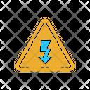 Hazardous High Voltage Sign Icon