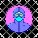 Hazmat Facemask Medical Icon