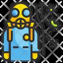 Hazmat Suit Virus Protection Suit Scientist Icon