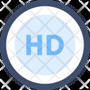 Hd High High Definition Icon
