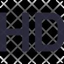 Hd High Defination Icon