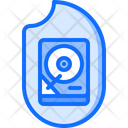 Hdd Data Fire Icon