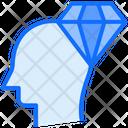 Head Brain Diamond Icon