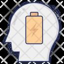 Head Person Battery Icon