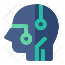 Head Artificial Intelligence Icon