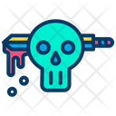 Knife Skull Blade Icon