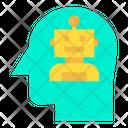 Artificial Intelligence Head Humanoid Icon