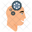Head With Gears Mind Gears Mind Icon