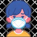 Girl Kid Flu Icon