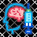Brain Syringe Injection Icon