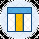 Header Three Coloumn Layout Web Layout Icon