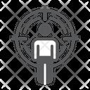 Headhunting Man Crosshair Icon
