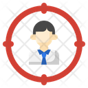 Headhunting Human Resources Circular Target Icon