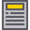 Headline Newspaper Paper Icon