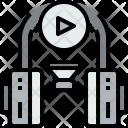 Headphone Music Play Icon