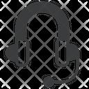 Headset Headgear Earphones Icon