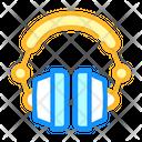 Earphones Device Color Icon