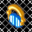 Earphones Device Isometric Icon